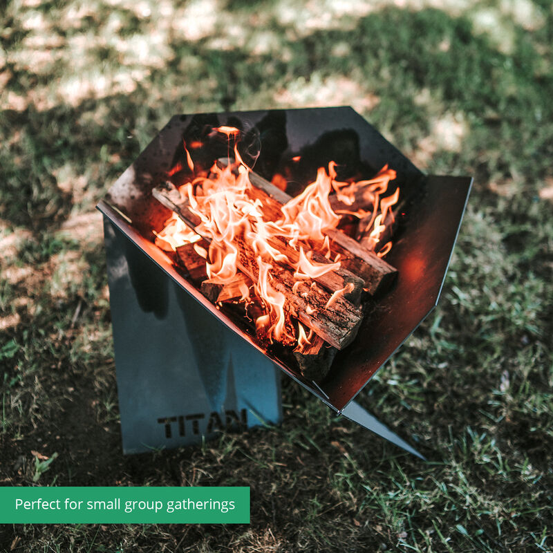 Portable Pop-Up Fire Pit With Carrying Bag