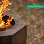 Corten Steel Dual Flame Smokeless Fire Pit