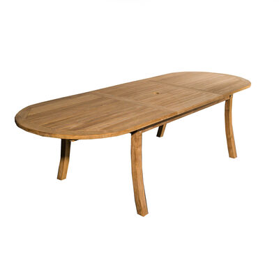 Grade A Teak Bristol Large Extended Oval Dining Table