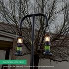 9 FT Powder-Coated Steel Dual Hanging Lantern Post