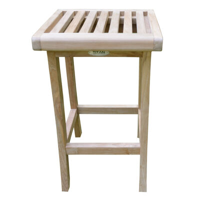 Teak Bar Stool | 25-in