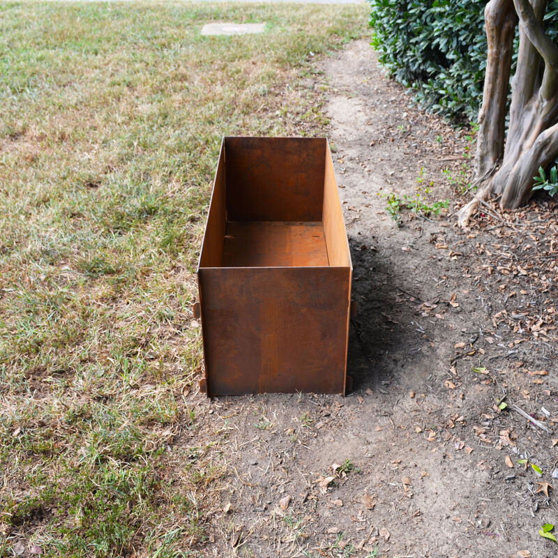 "Corten Steel Planter Box | 39"" x 15"" x 16"""