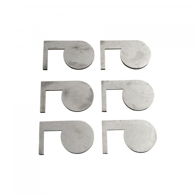 "(6) AR500 Dueling Tree Steel Targets 6"" x 1/2"" Swing Paddles"