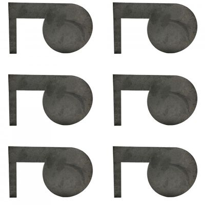 "(6) AR500 Dueling Tree Steel Targets 6"" x 3/8"" Swing Paddles"