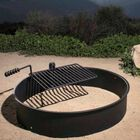 "36"" Steel Camp Fire Ring & Outdoor Cooking Grate"