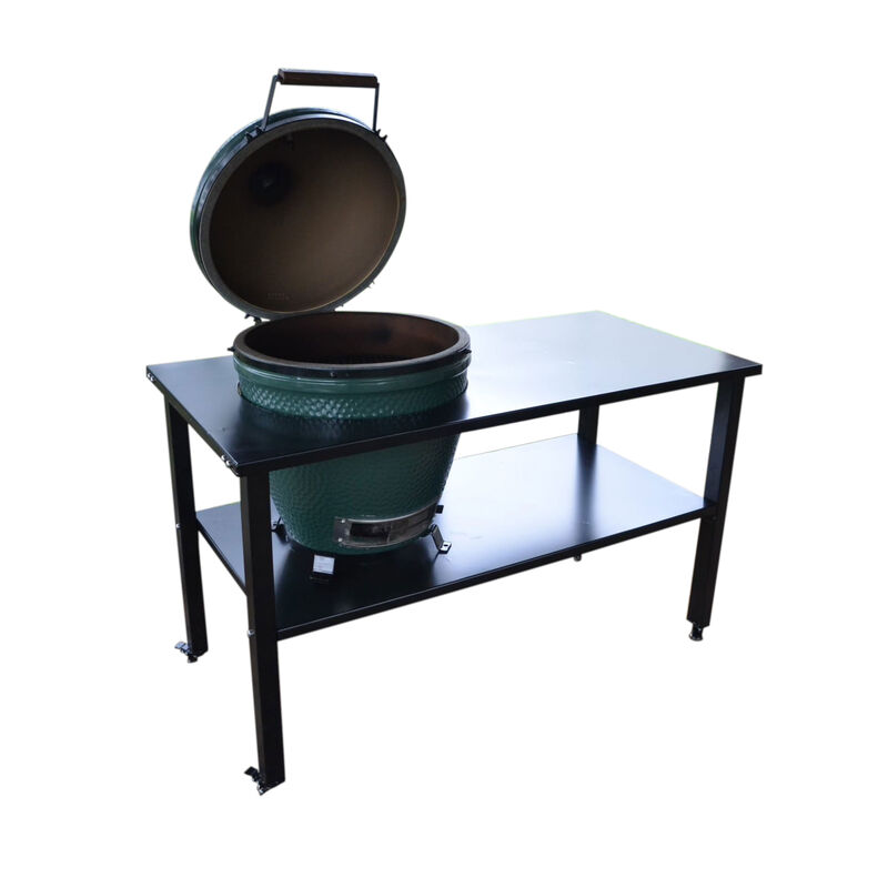 Ceramic Grill Table | Aluminum | Fits Large BGE, Kamado Joe