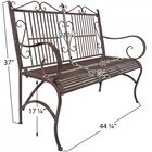 Rustic Metal Bench