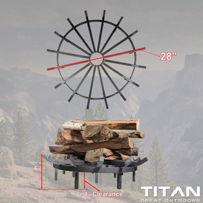 28-in Wagon Wheel Fire Grate