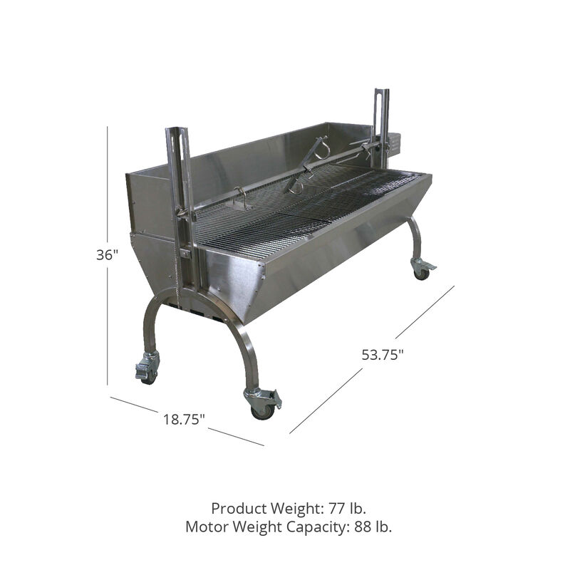 13W Stainless Steel Rotisserie Grill With Windscreen