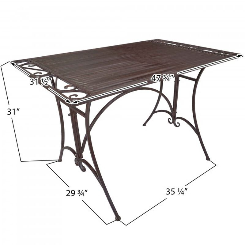 Rustic Metal Dining Table