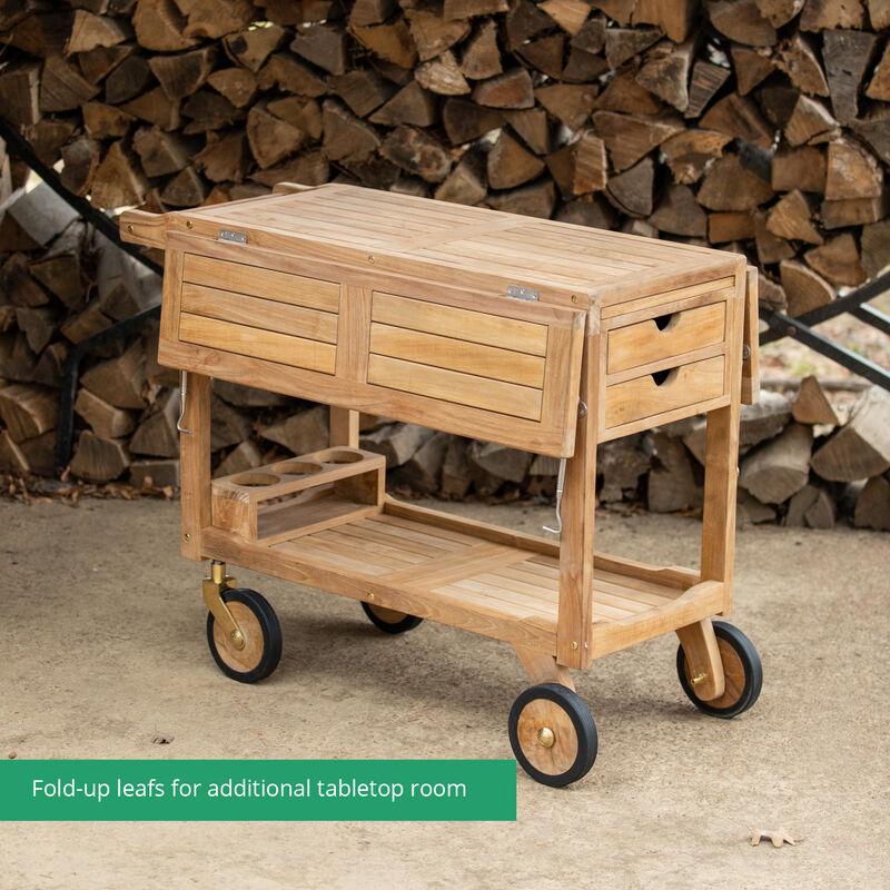 Grade A Teak Serving Cart