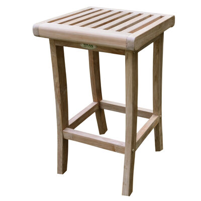 Teak Bar Stool | 29-in