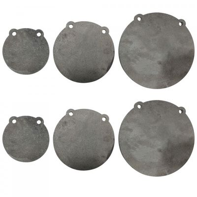 """(2) Sets of AR500 Steel Shooting Targets 6"""" 8"""" 10"""" x 3/8"""" Thick"""
