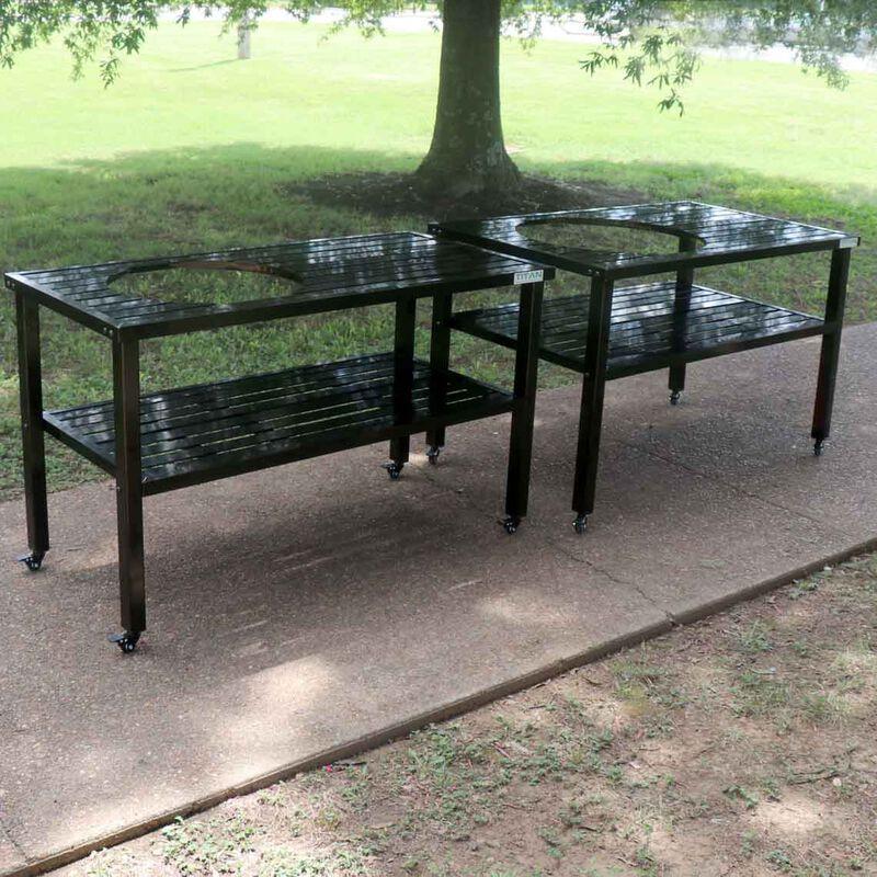 Ceramic Grill Table | Aluminum | Fits Large BGE and Kamado Joe