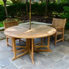 Teak Round Folding Table | 59-In