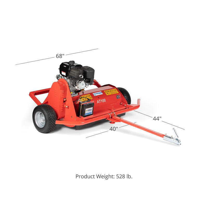 Titan 40-in ATV Tow-Behind Flail Mower