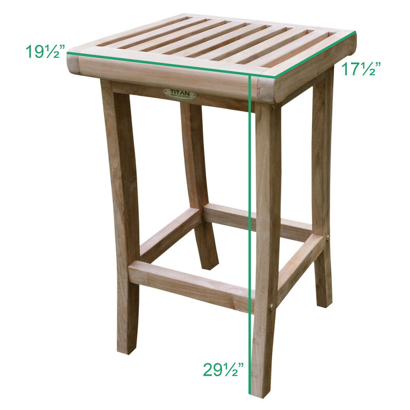 """Grade A Teak 35"""" Square Bar Table with two 29"""" Barstools"""