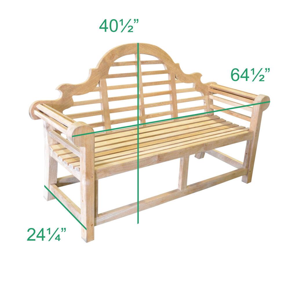 Teak Lutyens Garden Bench Outdoor Backyard Patio Furniture Titan Great Outdoor Free Shipping