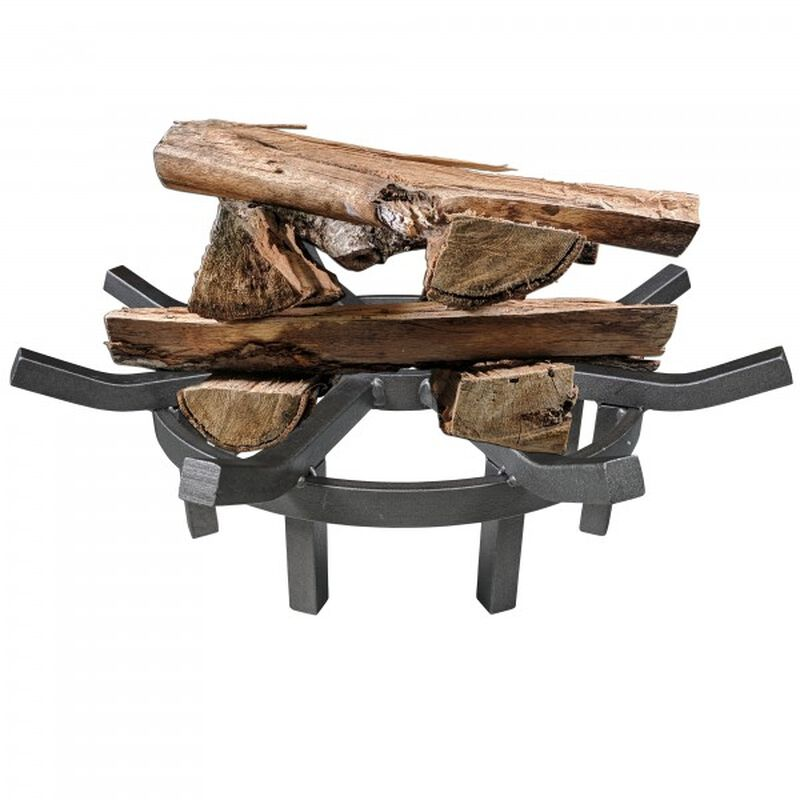 33-in Diameter Fire Pit With 24-in Wagon Wheel Fire Grate Combo