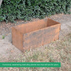 "39"" Long Corten Steel Planter Box"