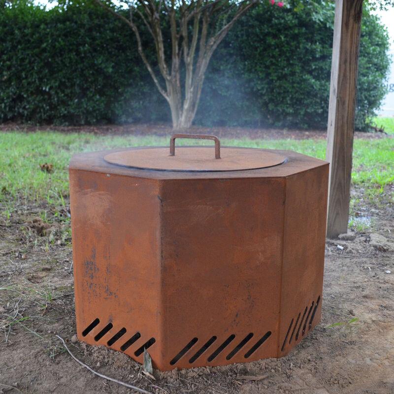 Lid for Corten Steel Low Smoke Fire Pit