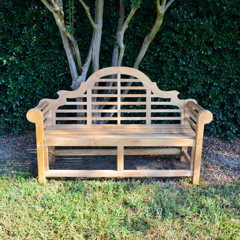 Teak Lutyens Bench | 64-in