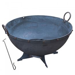 32-in Hemisphere Fire Pit With Screen And Poker