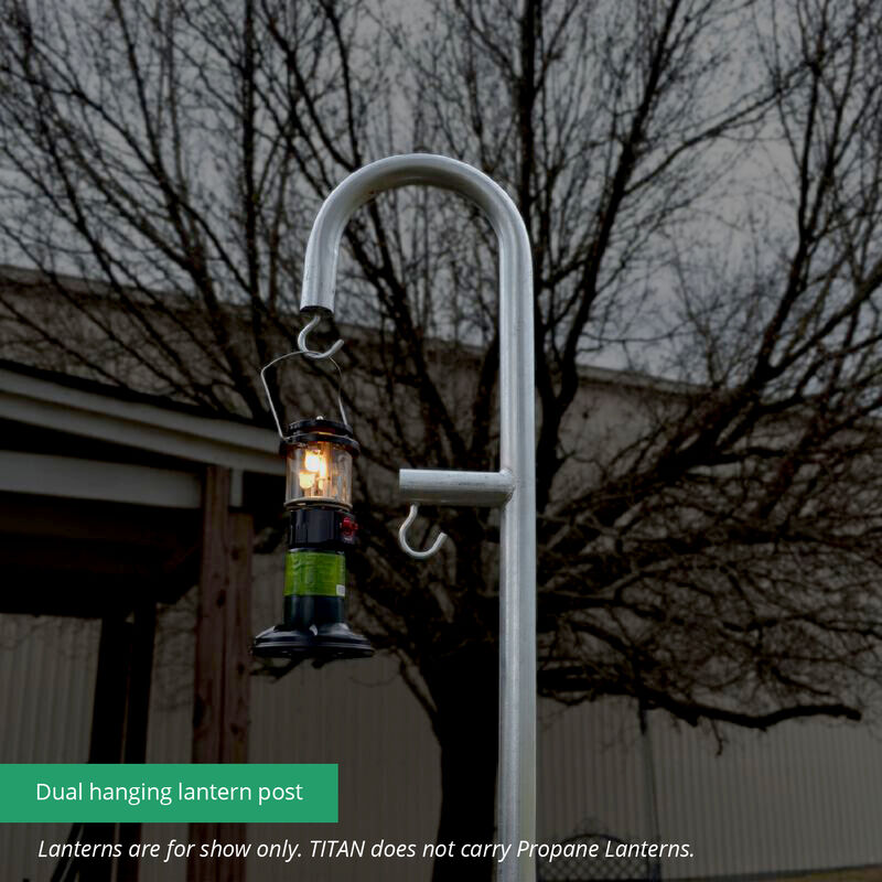 9 FT Galvanized Steel Shepherds Hook Lantern Post