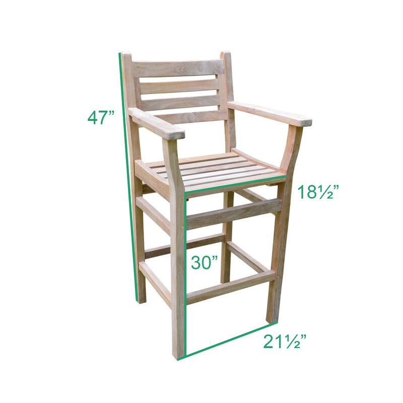 Teak Arizona Bar Chair