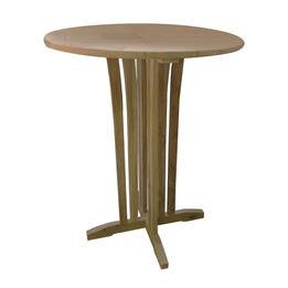 Teak Round Bar Table | 35-in