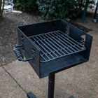 Outdoor Park-Style Charcoal Grill with Optional Roller Base V2