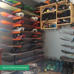 Scratch and Dent - 6-Shelf Lumber Storage Rack Steel Wall-Mounted Indoor / Outdoor - FINAL SALE