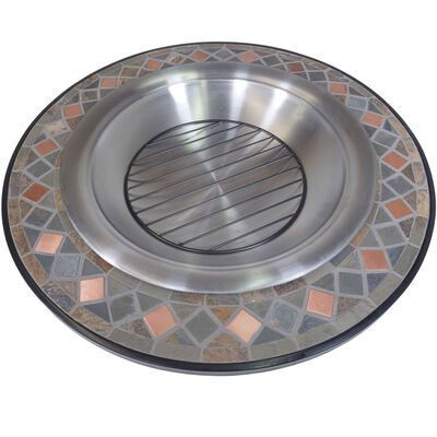 """40"""" Mosaic Slate Fire Pit Table"""