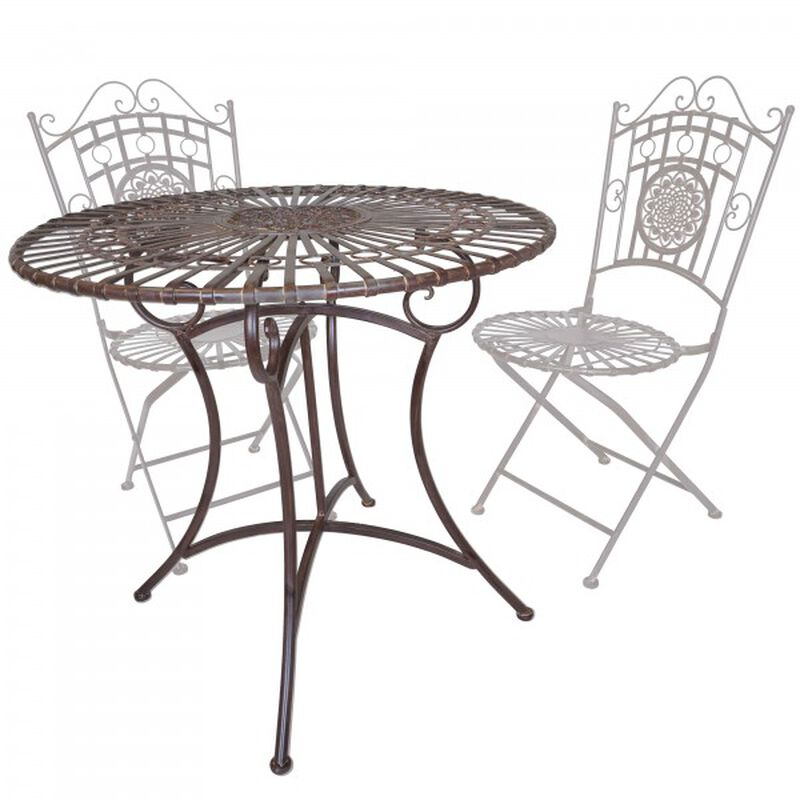 Rustic Metal Round Table