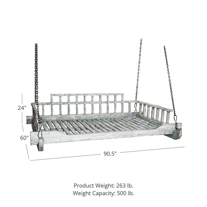 Grade A Teak Montana Queen Chain Porch Swing Bed