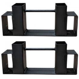 Steel Log Rack Bracket Kit| DIY