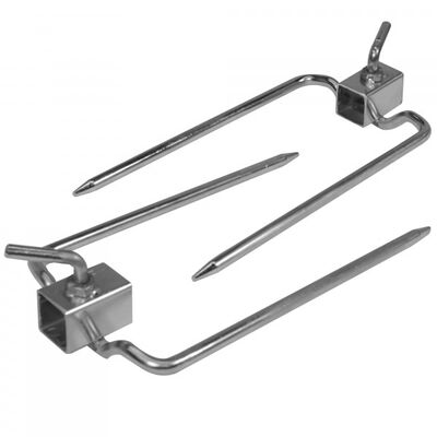 "Pair of Rotisserie Forks for 7/8"" Square Spit Rod"