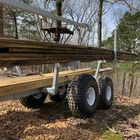 Tow Behind ATV & UTV Timber Trailer with Manual Crane - Wood Hauler & Carrier Rack