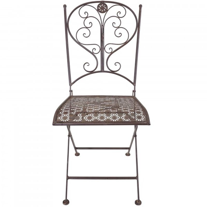 Rustic Metal Porch Chair