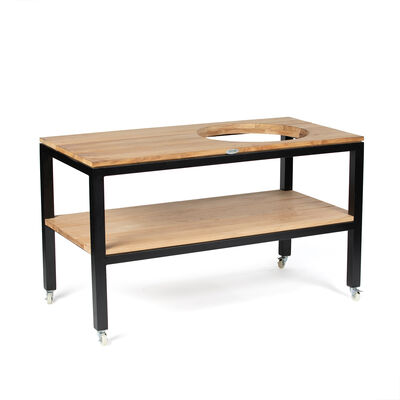 Scratch and Dent - Grade A Teak Ceramic Grill Table with Aluminum Frame - FINAL SALE