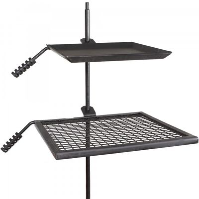 Campfire Adjustable Swivel Grill Fire Pit Cooking Grate Griddle Plate BBQ