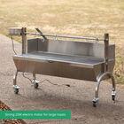 25W Stainless Steel Rotisserie Grill w/Windscreen