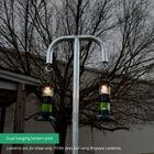 9 FT Galvanized Steel Dual Hanging Lantern Post
