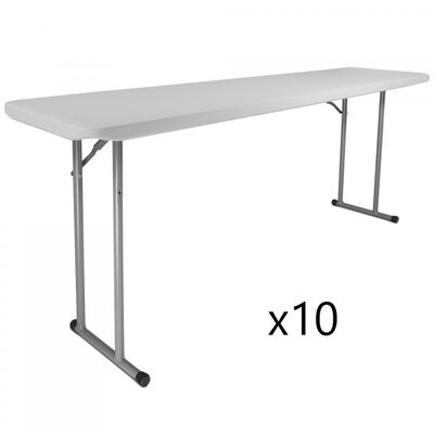 "Set of 10 - 18"" x 72"" Seminar Tables"