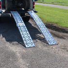 Two 7.5ft Aluminum Plate Top Lawn Mower ATV Truck Loading Ramps