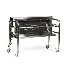 """48"""" Charcoal Spit Rotisserie Roaster - Stainless Steel Pig, Boar & Hunting Grill"""