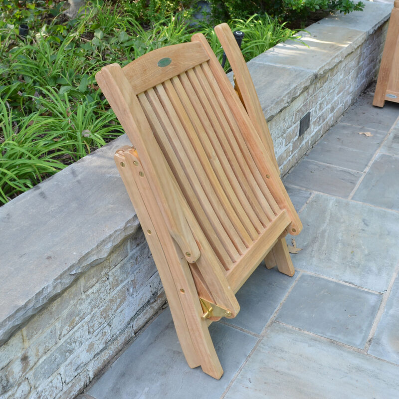 Teak Folding Armchair