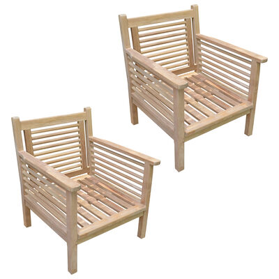 Set of 2 Teak Vincent Lounge Chairs