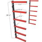 6-Shelf Lumber Storage Rack Steel Wall-Mounted Indoor / Outdoor