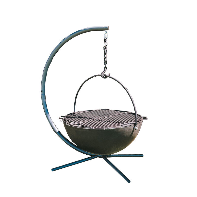 42-in Cauldron Fire Pit Bowl With Grate and Stand